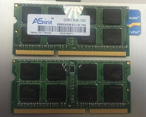 DDR3 Laptop 8G 1333 Asint